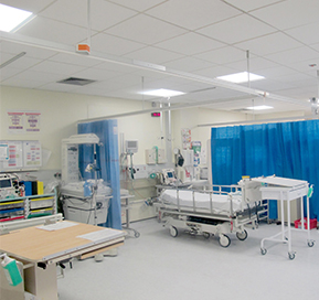Royal Surrey County Hospital Bed Ward with Goodlight LED panels installed