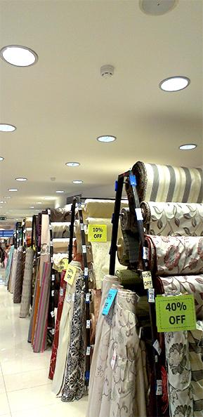 Goodlight LED Light Discs in B4 Textiles Fgura Materials