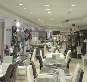 Goodlight LED Light Discs in B4 Textiles Fgura dining furniture