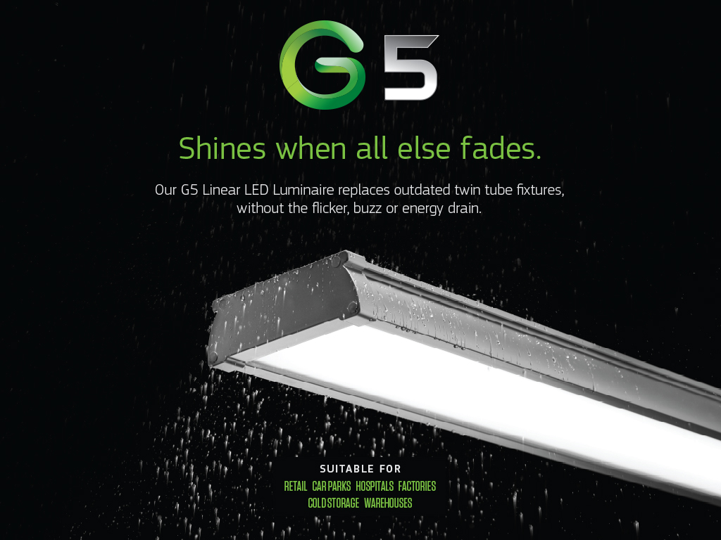 Goodlight G5 LED Batten Linear Luminaire shines when all else fades